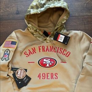 NFL San Fran 49ers Salute to Service Hoodie